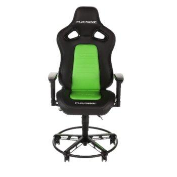 Геймърски стол Playseat L33T, черен/зелен image