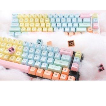 Капачки за механична клавиатура Ducky Cotton Candy 108-Keycap Set ABS Double-Shot US Layout image