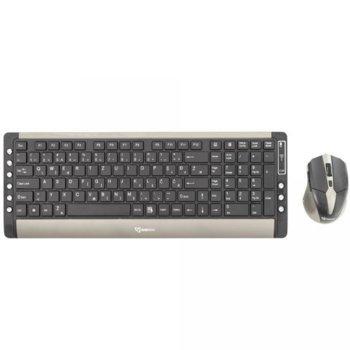 Комплект клавиатура и мишка SBOX WKM-26, безжични, 106 клавиша + 9 мултимедийни, 1600 DPI, черни image