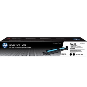 Тонер касета за HP Neverstop Laser 1000 / Neverstop Laser 1200, Black/Черен, HP 103AD Dual Pack Neverstop Laser Reload Kit, оригинален, 2x 2500к image