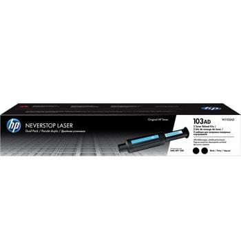 Тонер касета за HP Neverstop Laser 1000 / Neverstop Laser 1200, Black/Черен, HP 103AD Dual Pack Neverstop Laser Reload Kit, оригинален, 2x 2500к image
