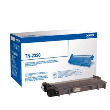 Тонер касета за Brother HL-L2300D/2340DW/2360DN/2365DW/MFC-L2700DW/2720DW/2740DW/DCP-L2500D/25020DW/2540DN/2560DW, Black - TN-2320, Заб.: 2600 брой копия image
