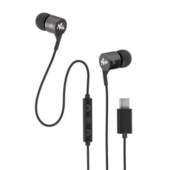 Слушалки Audictus Explorer Type-C Grey AWE-1453, микрофон, USB-C, сиви image