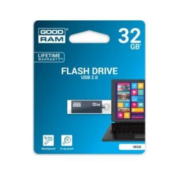 Памет 32GB USB Flash Drive, Goodram UCU2, USB 2.0, черна image