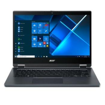 "Лаптоп Acer TravelMate Spin P4 TMP414RN-51 (NX.VP4EX.009_SV.WNBAP.B09)(син), двуядрен Tiger Lake Intel Core i3-1115G4 3.0/4.1 GHz, 14"" (35.56 cm) Full HD IPS Glare Touchscreen Display, (HDMI), 8GB DDR4, 256GB SSD, Windows 10 Pro image"