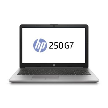 "Лаптоп HP 250 G7 (1F3L3EA), двуядрен Ice Lake Intel Core i3-1005G1 1.2/3.4 GHz, 15.6"" (39.6 cm) Full HD Anti-Glare Display, (HDMI), 8GB DDR4, 512GB SSD, 2x USB 3.1, Free DOS image"