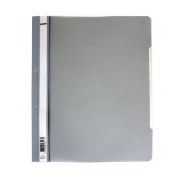 PVC папка Lux, перфорация, сива, A4 image