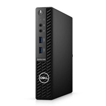 Настолен компютър Dell OptiPlex 3080 MFF (N212O3080MFF_UBU), четириядрен Comet Lake Intel Core i3-10105T 3.0/3.9 GHz, 8GB DDR4, 256GB SSD, 4x USB 3.2, Linux image