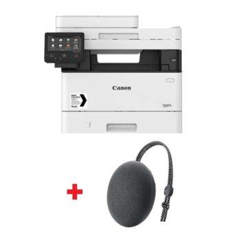Мултифункционално лазерно устройство Canon i-SENSYS MF445dw с подарък тонколона Huawei Sound Stone Bluetooth Speaker CM51 (черна), монохромен принтер/копир/скенер/факс, 600 x 600 dpi, 38 стр./мин, USB, LAN, Wi-Fi, A4 image
