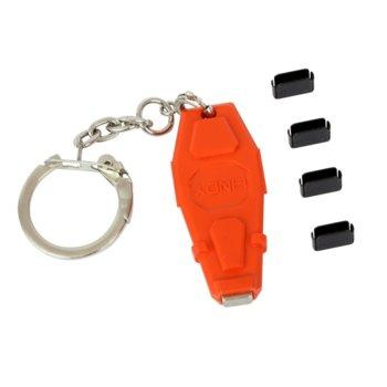 Блокери Lindy 40459, за блокиране на достъпа до USB Type-C/Thunderbolt 3, 1 ключ и 4 порт блокера image