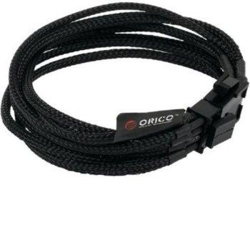 Кабел ORICO EPS от 4+4Pin(м) към 8Pin(ж), черен, 0.4 m image