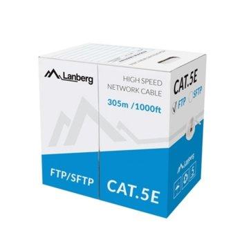 Kабел Lanberg , FTP, Cat5e, 305m, сив image