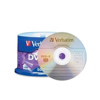 Оптичен носител DVD+R media 4.7GB Verbatim image