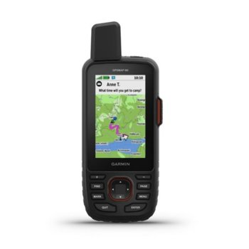 "Ръчна навигация Germin GPSMAP 66i, 3""(7.62 cm), TFT сензорен цветен дисплей, 16GB вградена памет, водоустойчив IPX7, Wi-Fi, Bluetooth и ANT+, SOS image"