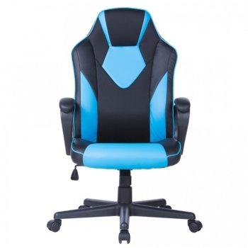 Стол Storm еко кожа черен син product