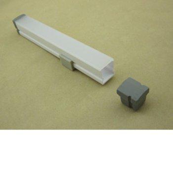 LED пластмасов профил M01S-IP68, 16 x 16mm, 2m дължина, за ленти до 12mm image