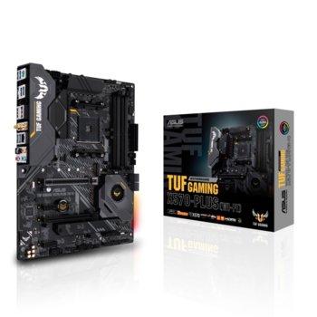 Дънна платка Asus TUF GAMING X570-PLUS (Wi-Fi), X570, AM4, DDR4, PCI-Е 4.0 (DisplayPort&HDMI)(CFX), 8x SATA 6Gb/s port, 1x M.2 Socket 3, 4x USB 3.2, Aura Sync RGB, Wi-Fi, Bluetooth, 6-layer PCB, ATX  image