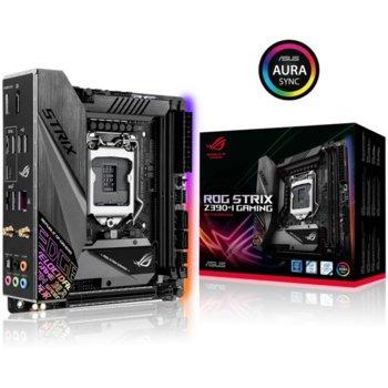 Дънна платка ASUS ROG STRIX Z390-I GAMING, Z390, LGA1151, DDR4, PCI-E (HDMI), 4x SATA 6Gb/s, 2x M.2 Socket, 2x USB 3.1 (Gen 2), Mini-ITX image