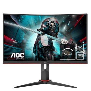 """Монитор AOC CQ27G2U/BK, 27"""" (68.58 cm) VA панел, 144Hz, QHD, 1 ms, 80M:1, 250 cd/m2, DisplayPort, HDMI, USB 3.0 image"""
