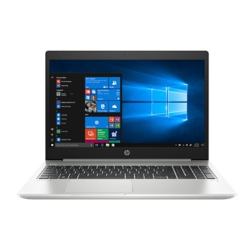 "Лаптоп HP ProBook 450 G6 (5TL50EA)(сребрист), четириядрен Whiskey Lake Intel Core i5-8265U 1.6/3.9 GHz, 15.6"" (39.6 cm) Full HD IPS Anti-Glare дисплей (HDMI), 16GB DDR4, 256GB SSD, 1TB HDD, USB-C 3.1 Gen 1, FreeDOS, 2 kg image"
