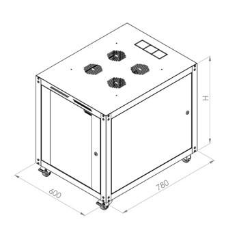 "Комуникационен шкаф FORMRACK BETA-42U6080 19"", 42U, 600x2096mm, товароносимост 600кг, черен image"