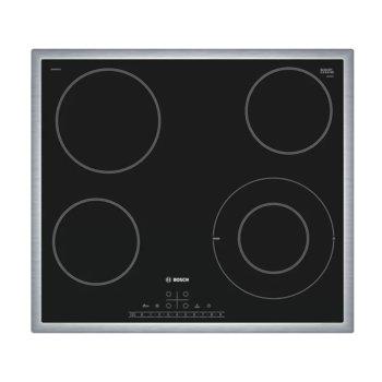 Стъклокерамичен плот за вграждане Bosch PKF645FP1E, 4 нагревателни зони, 17 степени на мощност, черен image