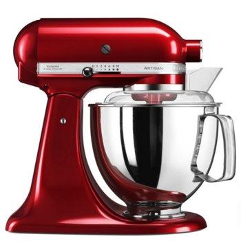Кухненски робот KitchenAid 5KSM175PSECA, 300W, 10 скорости, контейнер от неръждаема стомана, диск за емулгиране, 2бр. купи - 4.8L и 3L, червен image