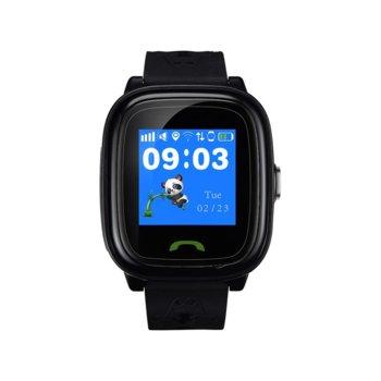 "Смарт часовник Canyon Polly, 1.22"" (3.09 cm) сензорен дисплей, microSIM слот, SOS бутон, IP68 водоустойчивост, двупосочни разговори, черен image"
