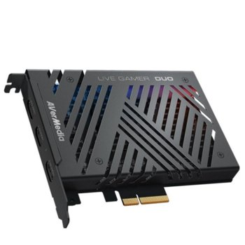 Кепчтър AVerMedia LIVE Gamer DUO, 2160p 60fps HDR, PCIe x4, вътрешен, HDMI image