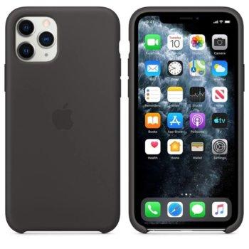 Калъф за Apple iPhone 11 Pro, силиконов, Apple Silicone Case MWYN2ZM/A, черен image