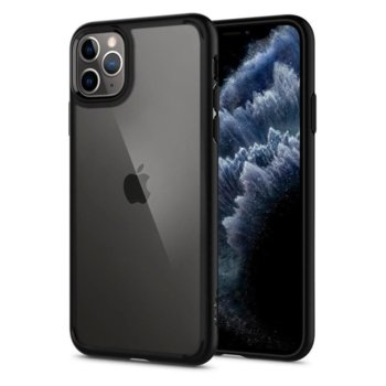 Калъф за Apple iPhone 11 Pro Max, хибриден, Spigen Ultra Hybrid 075CS27136, удароустойчив, черен image
