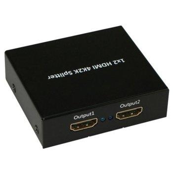 HDMI сплитер Roline 14.01.3555, от 1 HDMI(ж) към 2x HDMI(ж), 4096x2160 @30Hz image