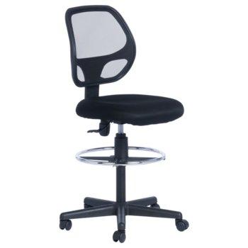 Работен стол Carmen 7553, газов амортисьор, полипропиленова база, мрежа, черен image