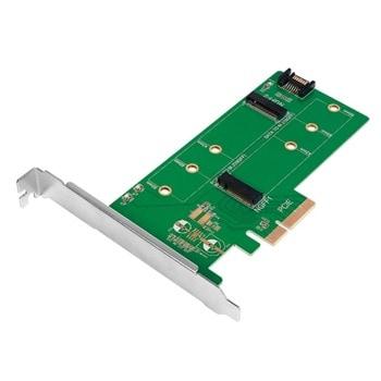 Контролер LogiLink PC0083, от PCI-E 3.0 x4 към 2x M.2 (NVMe) SSD, 42mm, 60mm и 80mm image