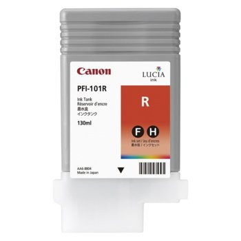 Мастило за Canon iPF5000, iPF5100, iPF6100 and iPF6200 - Red - PFI-101 - P№ 0889B001 - 130ml image