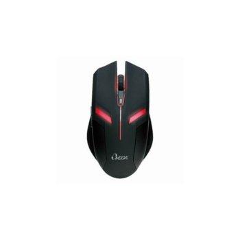 Мишка Omega GX2 27G223BK, оптична (2400 dpi), USB, черна image