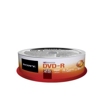 Sony 25 DVD-R spindle 16x product