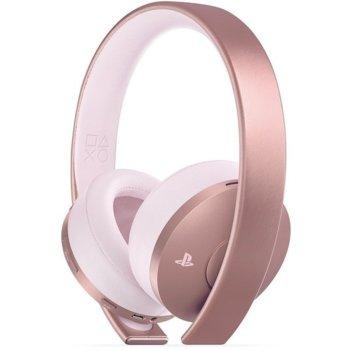 Слушалки Sony Wireless Stereo Headset 2.0 - Rose Gold, Bluetooth, микрофон, гейминг, розови image