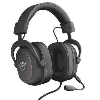 Слушалки Trust GXT 414 Zamak Premium, микрофон, съвместими с PS4/XboxOne/Switch/Mobile/PC, 3.5mm жак, черен image