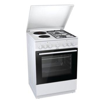 Готварска печка Gorenje K6241WF, клас А, 4 нагревателни зони (2 газови), 67 л. обем, AquaClean почистване, механичен брояч, бяла image