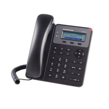"VoIP телефон Grandstream GXP1610, 2.95""(7.493cm) LCD дисплей, 1 линия, 2x LAN10/100, монтаж на стена, черен image"