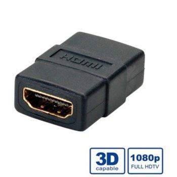Преходник Roline 12.03.3123, HDMI(ж) към HDMI(ж), черен image
