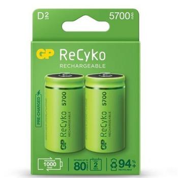 Акумулаторна Батерия GP, R20, 1.2V, 5700 mAh, NiMH, 2бр image