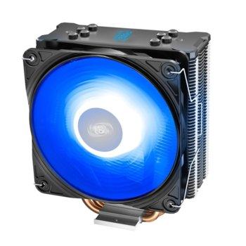 Охлаждане за процесор DeepCool GAMMAXX GT V2, съвместимост с Intel LGA 1151/1150/1155/1366/2066/2011-v3/2011 & AMD AM4/FM2+/FM2/FM1/AM3+/AM3/AM2+/AM2, RGB подсветка image