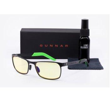 Комплект Gunnar FPS Onyx Case Promo Pack, очила/калъф/почистващ спрей, гейминг, черни image
