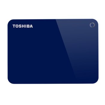 """Твърд диск 1TB Toshiba Canvio Advance (син), външен, 2.5"""" (6.35 cm), USB 3.0 image"""