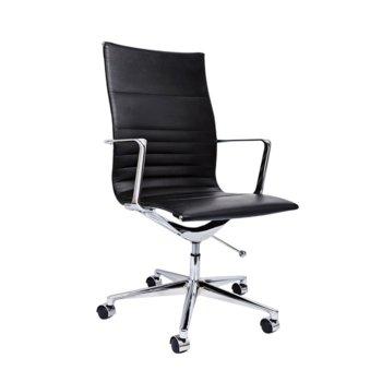 Работен стол RFG Haven W, екокожа, черна седалка, черна облегалка image