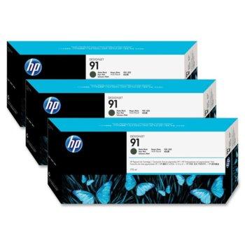 Глава за HP 91 3 - C9480A - Matte Black - 775ml image