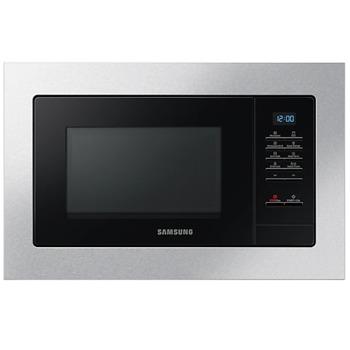 Микровълнова фурна Samsung MG23A7013CT/OL, за вграждане, с грил, сензорно управление, 800 W, 23 L обем, 6 нива на мощност, инокс image
