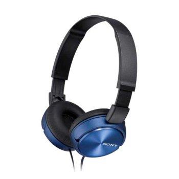 Слушалки Sony MDR-ZX310, сини image